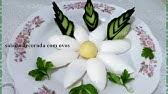 Salada ou mesa de refeição decorada com Ovos