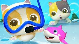 寶寶游泳歌 | 最新學數字兒歌童謠 | 卡通 | 動畫 | ABC Song | 寶寶巴士 | BabyBus