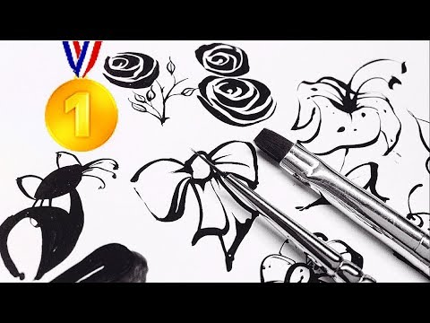 Hand Painting of Nail Art 2018 How to paint your nails and Make Nail Art Designs on long nails 2018