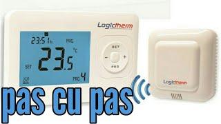 Montare termostat wireless la centrala termica