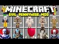 Minecraft IT Evil Pennywise Mod! | Pennywise & Georgie | Modded Minigame!