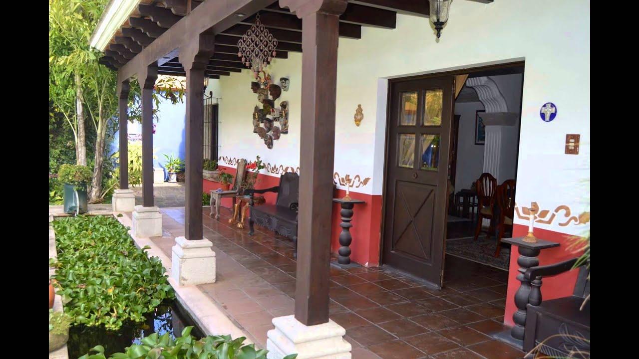 Casa estilo colonial en venta zona 16 guatemala youtube for Casas modernas guatemala