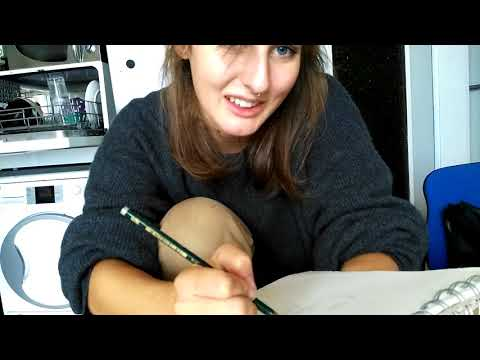 ASMR roleplay drawing a friend german / ich zeichne dich ❤😊 with chitchat