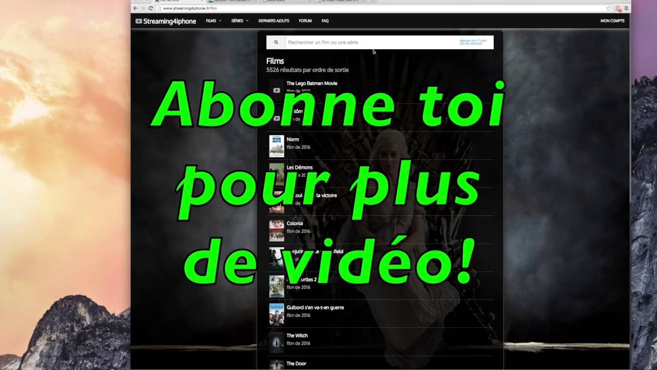 un film sur streaming4iphone