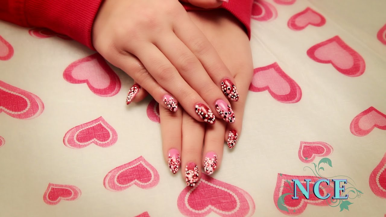 Valentine S Day Nail Art Youtube