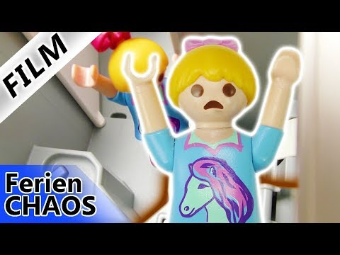 Playmobil Film Deutsch - HANNAH VERSTOPFT DAS KLO IM FLUGZEUG! NOTLANDUNG? Ferienchaos Familie Vogel