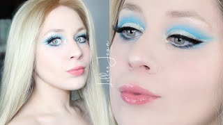 PowerPuff Girls Bubbles STILA Glitter Blue Cut Crease Eye Makeup Tutorial 2020 | Lillee Jean