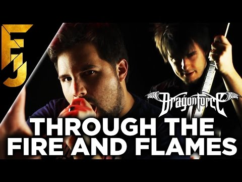 Through The Fire and Flames Feat Caleb Hyles  Dragonforce Guitar   FamilyJules