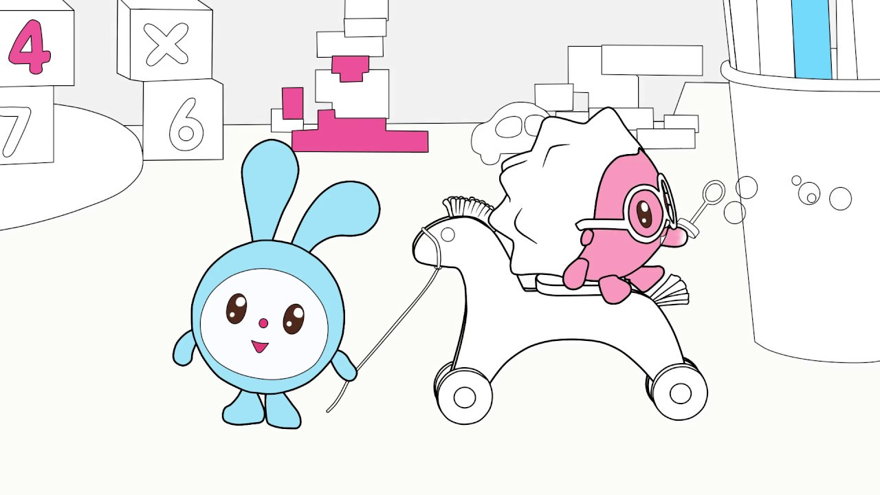 Малышарики - Раскраска для детей - Лошадка - YouTube