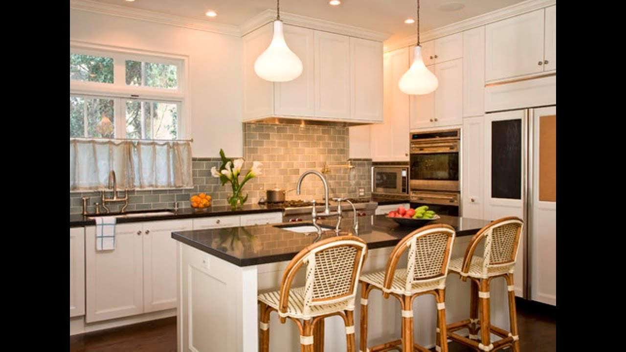 Kitchen Backsplash Ideas White Cabinets Black Countertops Part - 36: Kitchen Countertop Ideas With White Cabinets - YouTube