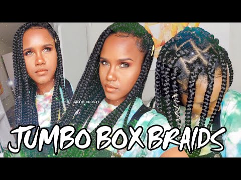 EASIEST WAY TO JUMBO BOX BRAID YOUR OWN NATURAL HAIR THIS SUMMER| DETAILED TUTORIAL