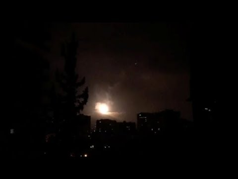 BREAKING: Syrian Air Defense Responding to Missile Over Homs, Syria