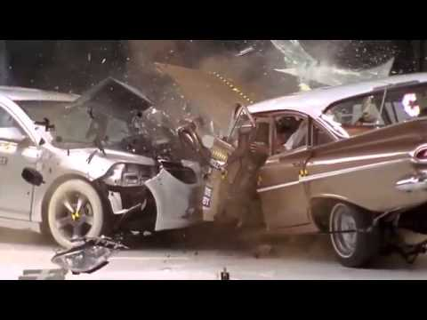 1959 Chevrolet Bel Air   2009 Chevrolet Malibu IIHS crash test