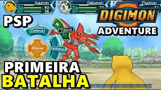 PRIMEIRA BATALHA NO DIGIMON ADVENTURE (PSP)