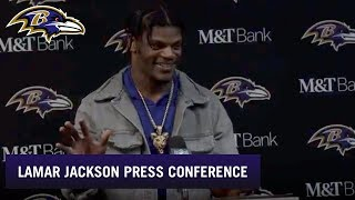 Lamar Jackson Reacts to Beating Buffalo Bills, Full Press Conference | Baltimore Ravens