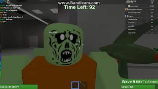 MY ROBLOX FRIEND MayRushArt is level 27,300 on zombie rush!!!! NOT CLICK BAIT