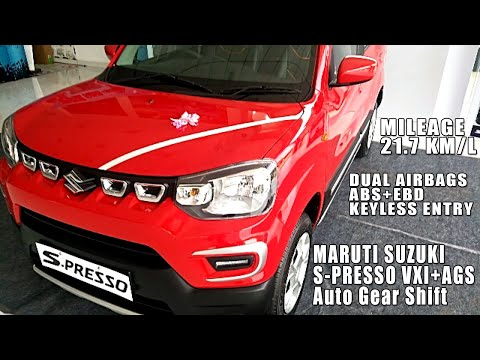 Maruti Suzuki S-Presso VXI+ AGS (AMT) Top Variant with Dual Airbags, ABS, EBD, Price 4.91 Lakhs
