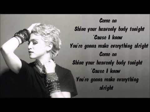 Madonna - Lucky Star Karaoke / Instrumental with lyrics on screen