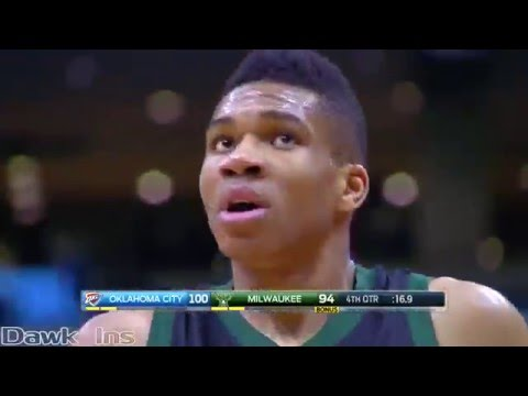 Kevin Durant Vs Giannis Antetokounmpo FREAKS Duel 2016 03 06   57 Pts, 23 Rebs, 18 Ast Combined!