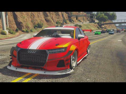 PRIMERA CARRERA CON MI AUDI RS3! COCHE DEL FUTURO!! - GTA V ONLINE Los Santos Tuners