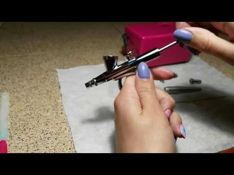 Как пользоваться аэрограф для ногтей