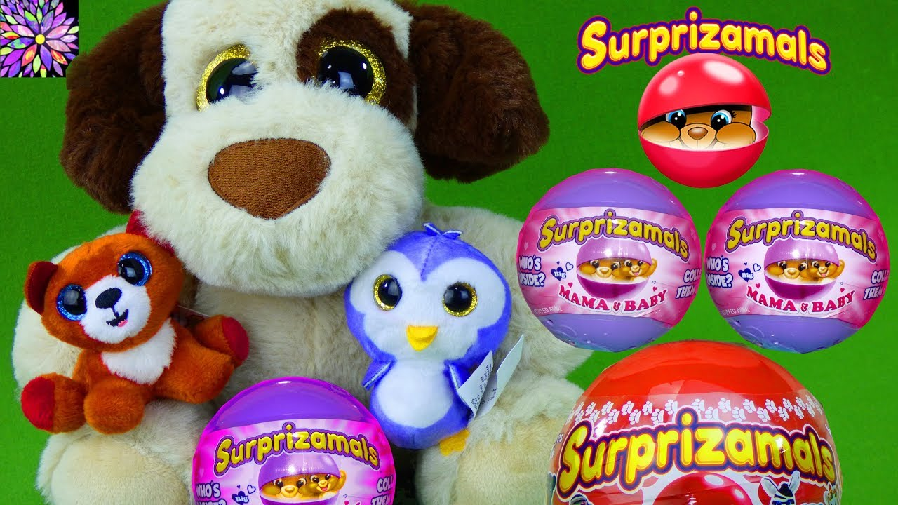Surprizamals Mama And Babies Puppy Surprise Eggs Toys Video For Kids