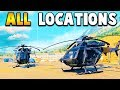 Call Of Duty Black Ops 4: ALL HELICOPTER LOCATIONS + ONE SAFE LOCATION - Call Of Duty Battle Royale