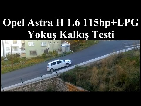 Opel Astra H 1.6 115 Hp+LPG Yokuş Kalkış Testi