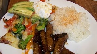 Spicey Sweet Smokey Links, Veg Primavera, Sweet Rice 2/3 Chef John The Ghetto Gourmet