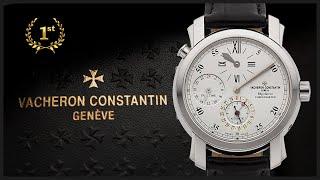 обзор часов Vacheron Constantin Malte Dual Time Regulator 42005/000g-8900 белое золото 39мм!