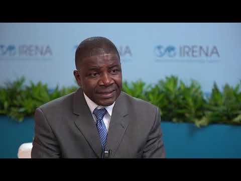 Liberia Rural and Renewable Energy Agency Program Director Stephen V. Potter, Sr, at IRENA 9A