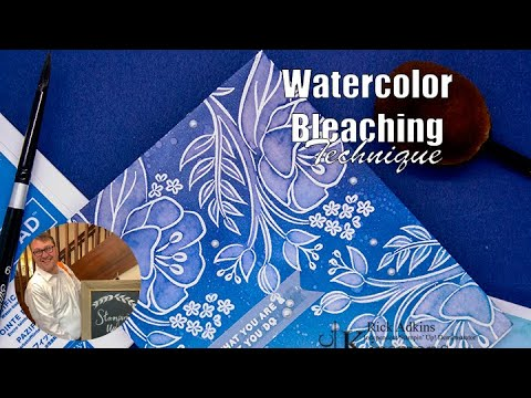 Watercolor Bleaching Technique using Stampin' Up! Products