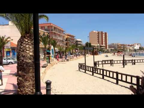 The beautiful beach and boulevard of Lo Pagán (Murcia, Spain)