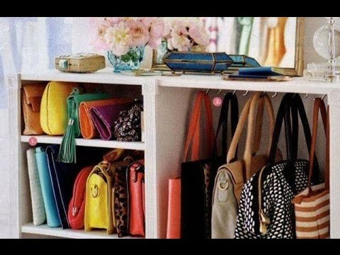 ideas para organizar los bolsos o bolsas cmo guardar y ordenar en el closet o armario