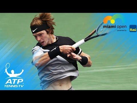 Funny Khachanov & Rublev doubles fail! | Miami Open 2018