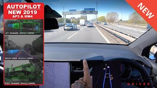 2019 Tesla Drivers Around London On AUTOPILOT Self Drive AUTONOMOUS Driving Mode!