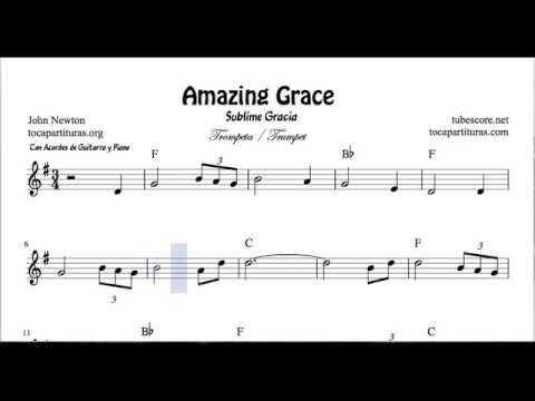 Amazing Grace Sheet Music for Trumpet and Fluglehorn with Chords
