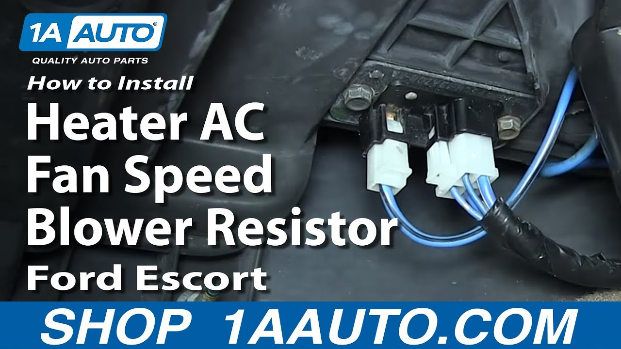 how to install replace heater ac fan speed blower resistor 1991 03 ford escort zx2 mercury tracer youtube [ 1920 x 1080 Pixel ]