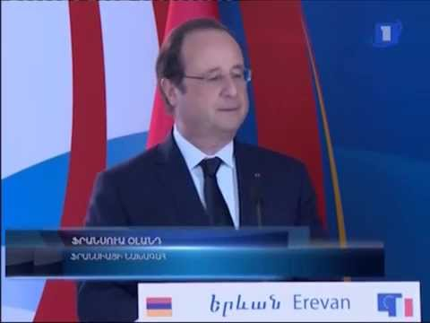 François Hollande in Yerevan,  May 12, 2014 | Armenian-French economic forum