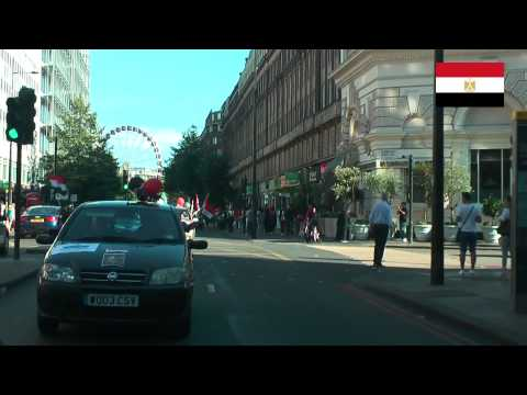 London, Egyptians celebrate the opening of the New Suez Canal