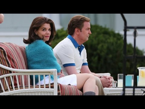 Katie Holmes Looks Identical to Jackie Kennedy on 'The Kennedys: After Camelot' Set -- See the Pi…