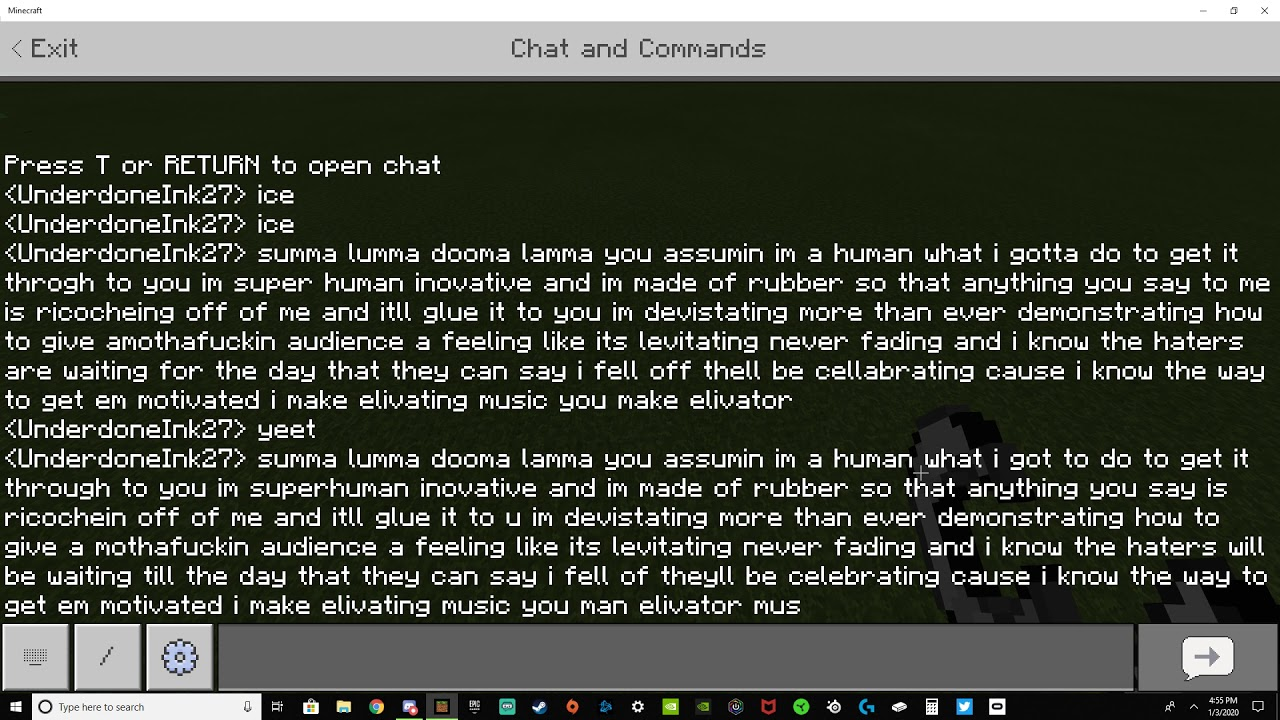 Rap God Minecraft Text To Speech - YouTube