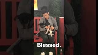 Nathan Chen and puppies US Champs 2018