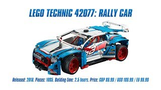 LEGO Technic 42077: Rally Car In-depth Review & Speed Build [4K]