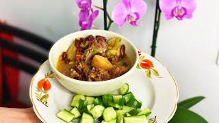 Сытный и бюджетный обед в английском стиле Картофель с Фасолью в Мультиварке рецепт