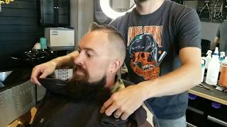 💈 Modern Mens Haircut + Beard Touch-Up at Barbershop 💈