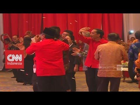 Momen Jokowi, Mega hingga JK Joget Bareng di HUT PDI P ke-45