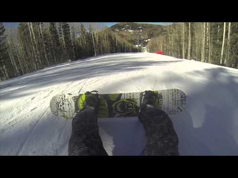 2014 snowboarding at ski santa fe new mexico