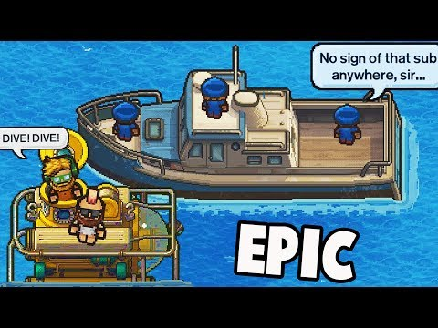 STEALING a Stealth SUBMARINE From the Police!  (Escapists 2 Multiplayer Gameplay - H.M.P. Offshore)