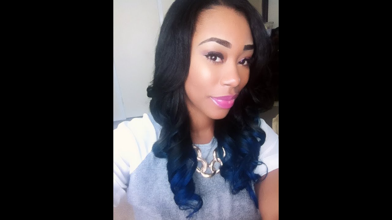 Midnight Blue And Black Ombre Hair